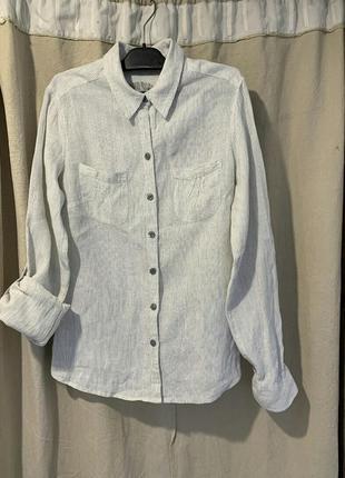Рубашка блузка лён льон marks & spencer