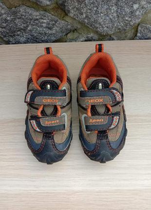 Детские кожаные кроссовки geox sport