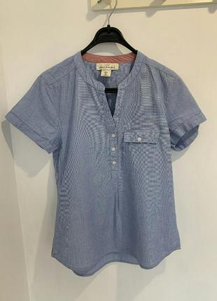 Блуза хлопок рубашка короткий рукав h&m