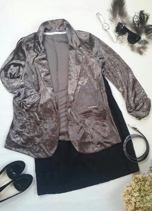 Пиджак велюровый бархатный next