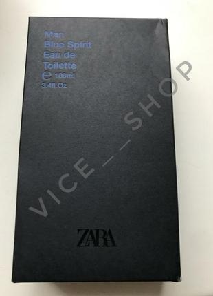 Zara blue spirit духи парфюмерия туалетная вода