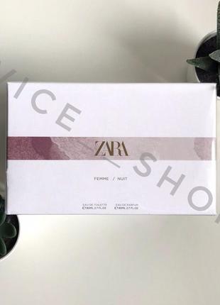 Zara  femme & nuit духи парфюмерия туалетная вода