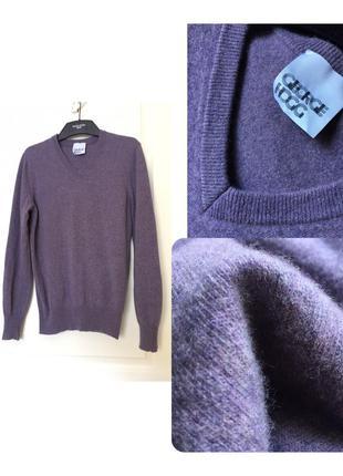 Фирменный кашемировый джемпер, свитер george hogg лавандовый ш...