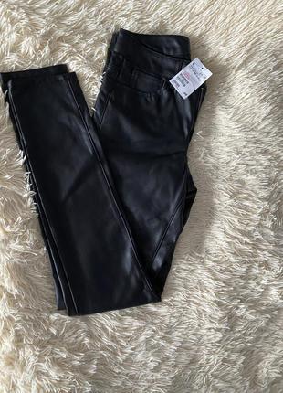 Новые джинсы под кожу h&m