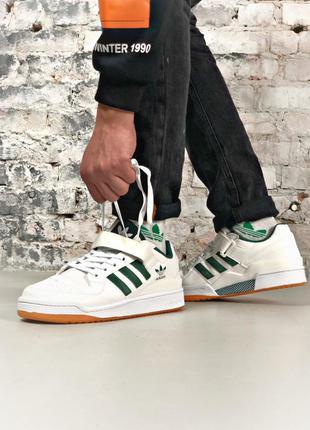 Adidas forum white, мужские кроссовки