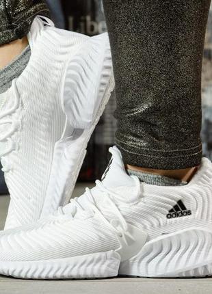 Кроссовки женские белые в стиле адидас