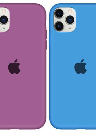 Чехол силиконовый для Apple iPhone 11 Pro Max (с закрытым низом)