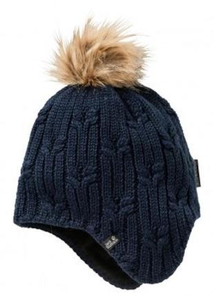 Женская зимняя шапка jack wolfskin stormlock шапки женские ори...