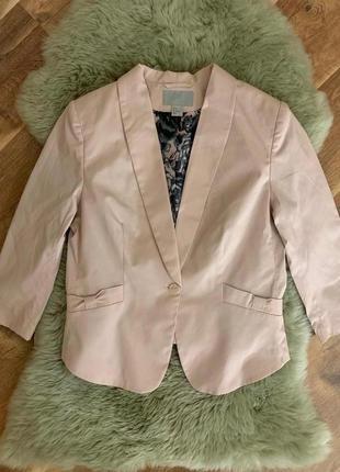 Пудровый пиджак h&m, новый!