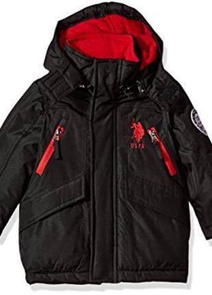 Детская куртка polo assn теплая новая 2т для мальчика