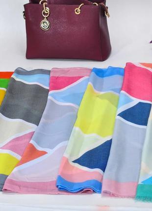 Легкий шарф палантин мозаика