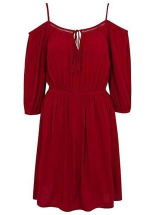 Новое натуральное платье с открытыми плечами george