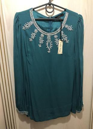 Новая блуза вышивка бисер размер c-м-л