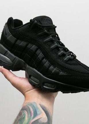 Крутые кроссовки nike air max 95 black