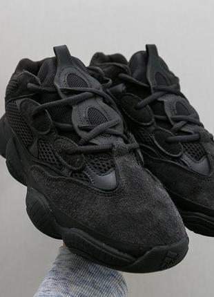 Крутые кроссовки adidas yeezy 500 utility black