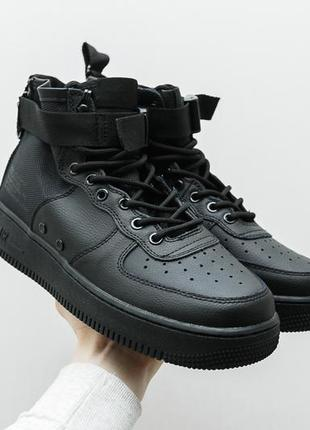 "Крутые кроссовки nike sf air force 1 mid ""black"""