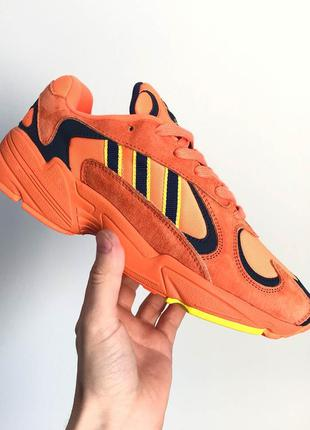 """Крутые кроссовки adidas yung 1 """"orange navy """""""