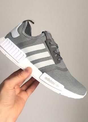 Крутые кроссовки adidas nmd runner grey