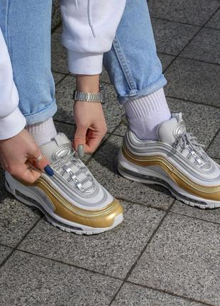 Крутые кроссовки nike air max 97 metallic gold
