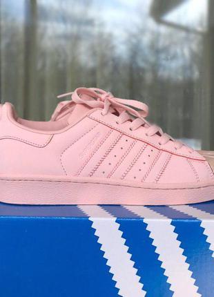 Крутые кроссовки adidas superstar pink