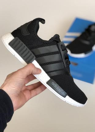 Крутые кроссовки 🔥adidas nmd runner black&white🔥