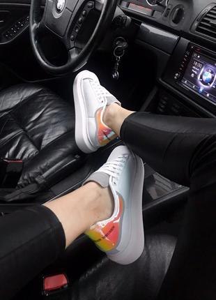 Крутые кроссовки 🔥alexander mcqueen white hologram  🔥