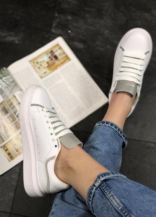 Крутые кроссовки ❤  alexander mcqueen white reflective❤