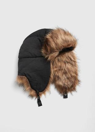 Мужская зимняя теплая шапка ушанка gap шапки мужские зима ориг...