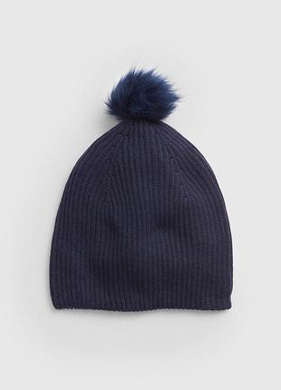 Женская теплая зимняя шапка gap шапки бини женские зима оригин...
