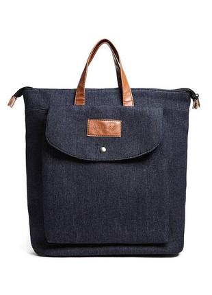 Сумка - рюкзак джинсовый городской guess мужской женский ориги...