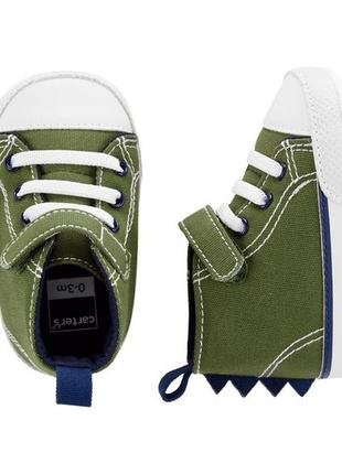 Кеды детские пинетки carters eur 17 19 кроссовки для малышей к...