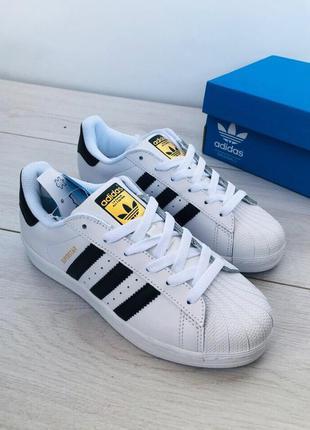 Стильные кроссовки 😍 adidas superstar white/black 😍