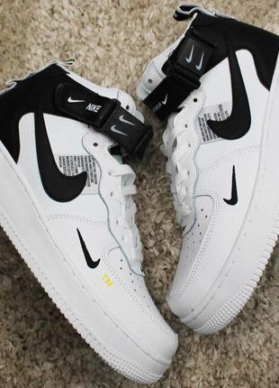 Стильные кроссовки 😍 nike air force 1 high white black 😍