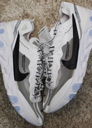 Стильные кроссовки 😍nike react element 87 white gray😍