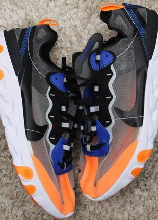 Стильные кроссовки 😍nike react element 87 gray orange black  😍