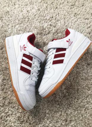 Стильные кроссовки ❤adidas forum mid white red ❤