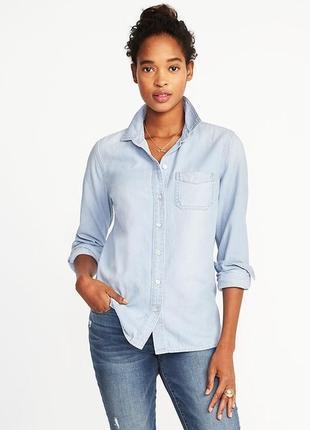 Женская джинсовая рубашка old navy размер xs женские рубашки д...