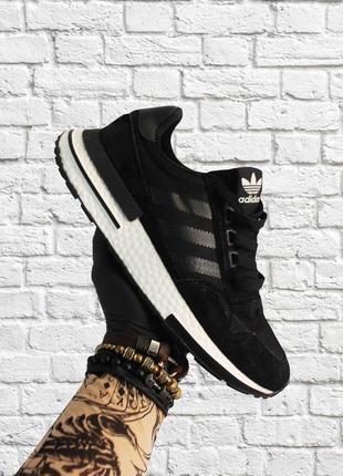 Стильные кроссовки ❤ adidas zx 500 rm black white ❤