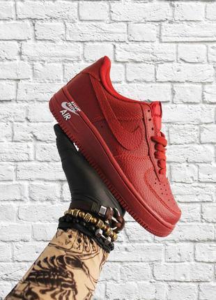 Стильные кроссовки ❤ nike air force 1 low red ❤