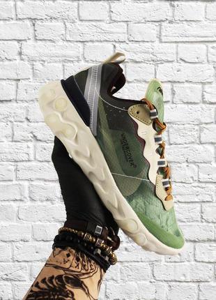 Стильные кроссовки ❤ nike react element 87 green white  ❤