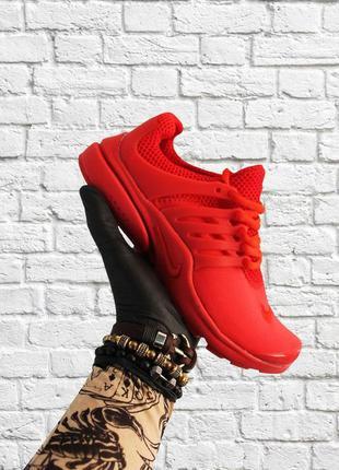 Стильные кроссовки 🔥 nike air presto red  🔥