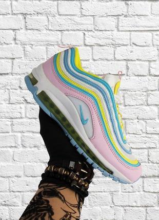 Стильные кроссовки 🔥 nike air max 97 blue yellow pink 🔥