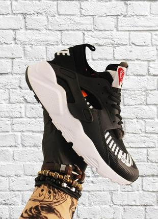 Стильные кроссовки 🔥 nike air huarache  black white  🔥