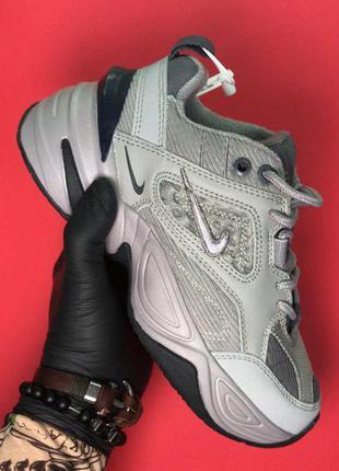 Стильные кроссовки 🔥 nike m2k tekno grey white  🔥