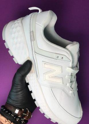 Стильные кроссовки 🔥 new balance 574 full white 🔥