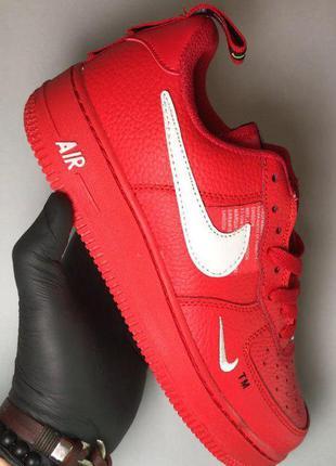 Стильные кроссовки 🔥 nike air force low red 🔥