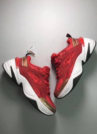 Стильные кроссовки 🔥 nike m2k tekno red white 🔥