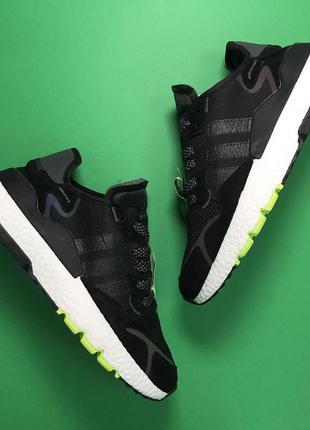 Стильные кроссовки 🔥  adidas nite jogger black white  🔥