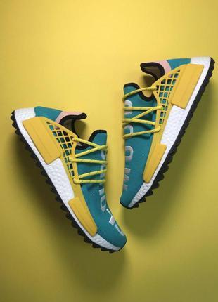 Стильные кроссовки 🔥 adidas nmd human race green yellow  🔥