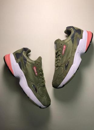 Стильные кроссовки 🔥 adidas falcon green white 🔥